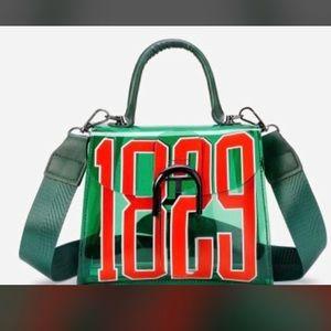 Green Number Printed Bag